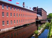 Mill Building (now museum), Lowell, Massachusetts.