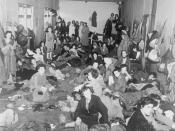 A barrack block at Belsen
