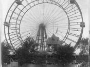 English: Photo of original Ferris Wheel from the 1893 Chicago World's Fair.