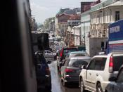 Traffic congestion in Vladivostock