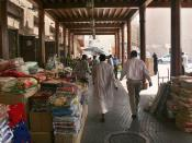 This is a photo of a souk in Deira, Dubai, United Arab Emirates on 9 May 2007.