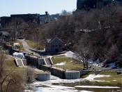 First locks of the Rideau Canal in Ottawa