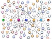 Six degrees of separation: Artistic visualization. Français : Visualisation artistique du principe des Six degrés de séparation. Nederlands: zes niveaus van scheiding