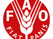 English: The logo of the Food and Agriculture Organization of the United Nations, white and red