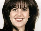English: Monica Lewinsky, from her government ID photo by Office of the Secretary of Defense.