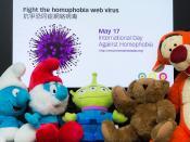 """抗爭恐同症網絡病毒 Fight the homophobia web virus"" / 生頌多樣玩具故事 Life Celebrates Diversity Toy Story: International Day Against Homophobia (IDAHO) / SML.20130517.6D.06866"