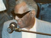 Photo of Ray Charles at Grammy Awards rehearsal (cropped from original).