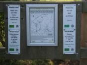 English: DEFRA information board. There are two footpaths either side of the River Smite. The one on the west bank is a DEFRA Conservation Walk. (DEFRA = Department for Environment, Food and Rural Affairs)