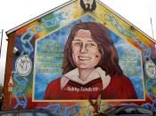 A mural dedicated to republican hunger striker Bobby Sands