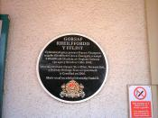 English: Welsh language commemorative plaque at Flint railway station, North Wales.