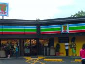 7-11 store transformed into a Kwik-E-Mart in Seattle, Washington, July 1, 2007, as promotional for The Simpsons Movie.