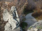 A stone angel at the back of the St. Peter and Paul Cathedral