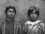 English: Native Hawaiian schoolchildren around 1900.