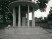 English: Magna Carta Monument, Runnymede. This is where the Magna Carta was signed by King John in 1215.