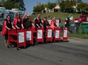 Seattle librarians, 2008 Fiestas Patrias parade, South Park, Seattle, Washington.