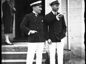 Royal Sydney Yacht Squadron members Frank and Alexis Albert in front of the club's headquarters