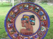 an image of mayan calendar on cosumel island' Mexico
