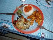 Food - Chicken and plantain