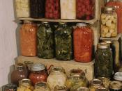 Preserved food in Mason jars