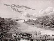 View on Dejima in Nagasaki Bay