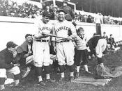 English: Babe Ruth and Lou Gehrig at United States Military Academy, West Point, NY
