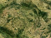 An enlargeable satellite image of the Czech Republic