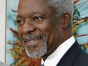 English: United Nations Secretary-General Kofi Annan uploaded to the English Wikipedia by User:Hajor. Photograph copied from the website of Agência Brasil, which states: :The Agência Brasil makes images and photos available free of charge. To comply with