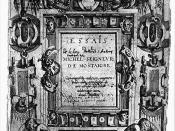 Deutsch: Titelblatt des dritten Bandes der Essais von Michel de Montaigne mit Notizen des Autors