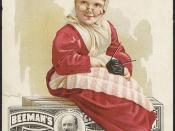 Beeman's Pepsin Chewing Gum, playing grandma [front]