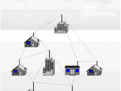 Visio Diagram to show a wireless mesh in a city-wide deployment