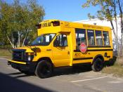 English: A 2010 Girardin MB-II school bus belonging to Boston Public Schools.