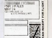 English: Airline Ticket Receipt of Southwest Airlines