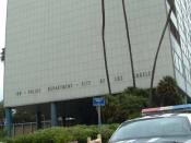 English: Parker Center, the previous headquarters of the Los Angeles Police Dept.