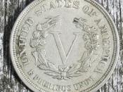 Reverse of no cents Liberty Head nickel