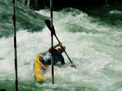 Whitewater kayak, Tacen, Slovenia