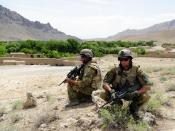 Two Australian soldiers in Baluchi Valley April 2010