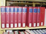 English: The Uniform Commercial Code is so important that even the confidential rough drafts of its sections have been preserved and published in this set of 10 volumes to aid lawyers and judges in interpreting the UCC. Photographed at the law library of