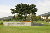 Pepperdine University's Malibu Canyon Entrance Gate