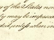 English: Cropped version of the second page of Constitution of the United States, showing Article I, section 9