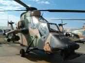 An Australian Army Tiger helicopter