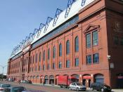 The Bill Struth Main Stand at Ibrox, home of Rangers Football Club.