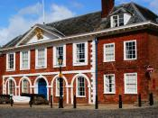 Old Customs House at Exeter docks. Built in 1681 & the oldest surviving purpose built customs house in Britain. It is a Grade one listed building.
