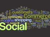 English: Wordle Cloud Definition of Social Commerce - All Definitions of