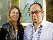 English: HURT LOCKER director Kathryn Bigelow and SIFF Artistic Director Carl Spence. Photo by Matt Daniels