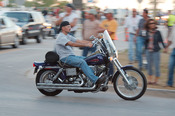 English: A biker during Harley-Davidson's 105th anniversary in Milwaukee, Wisconsin