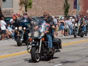 English: Harley-Davidson's 105th anniversary parade in Milwaukee, Wisconsin