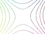 contour lines around saddle point