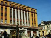 Czech modernism in Jablonec nad Nisou -   Nová Radnice. New Town hall, march 1994