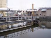 English: Section of a wastewater treatment plant. Español: Porción de una planta de tratamiento de aguas negras.