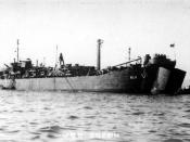 English: USS Creon (ARL-11) at anchor, date and place unknown.